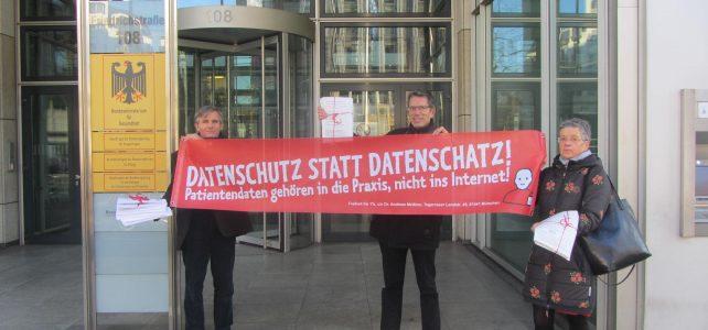 1000 Unterschriften gegen die Telematikinfrastruktur