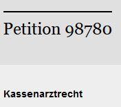 Bundestagspetition jetzt online freigeschaltet!